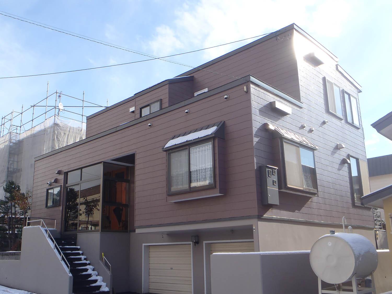 外壁リフォーム(札幌市厚別区もみじ台:O様邸宅) - ビフォー