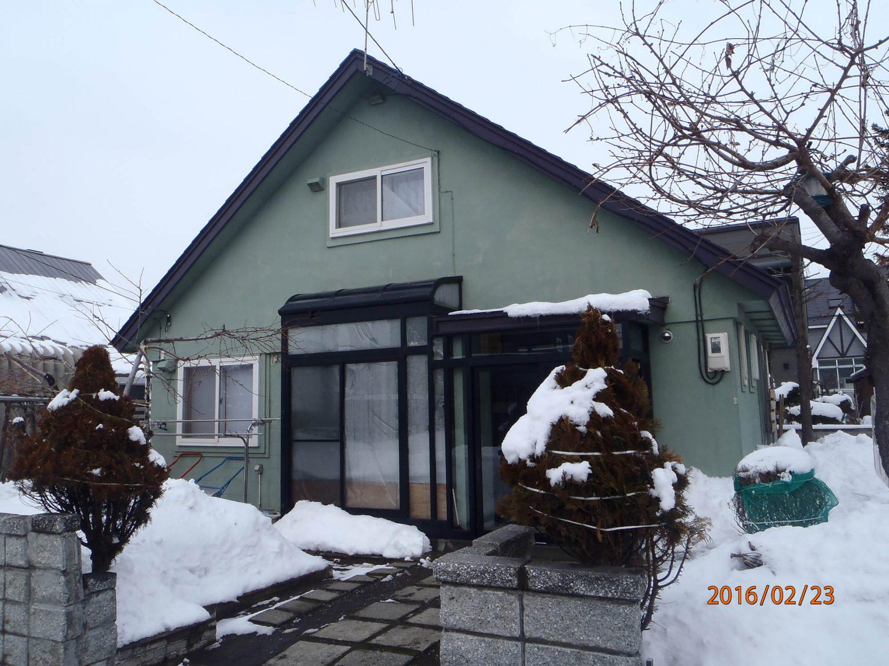 外壁リフォーム(札幌市北区篠路:S様邸) - ビフォー