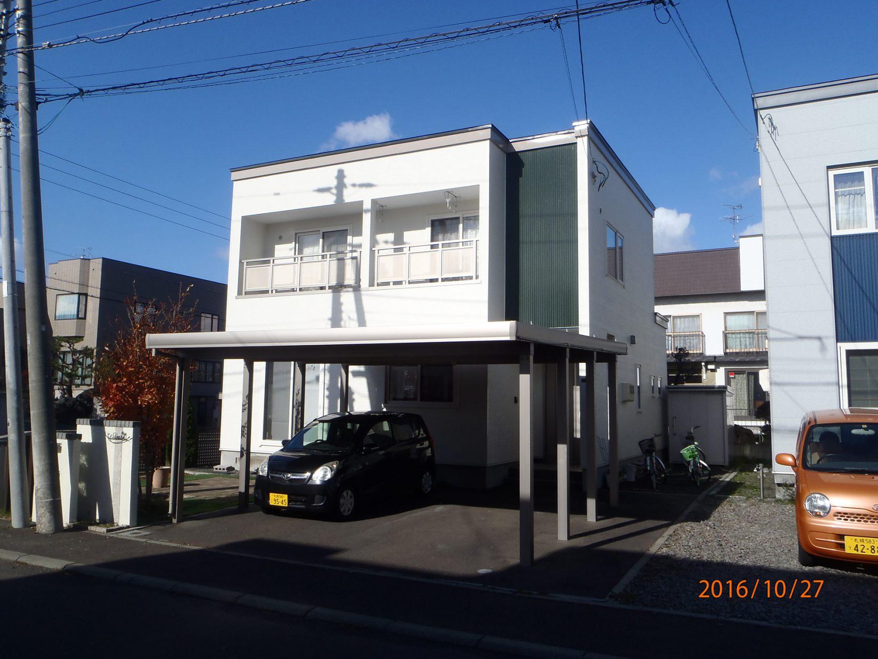 外壁と屋根の塗装工事(札幌市北区) - アフター